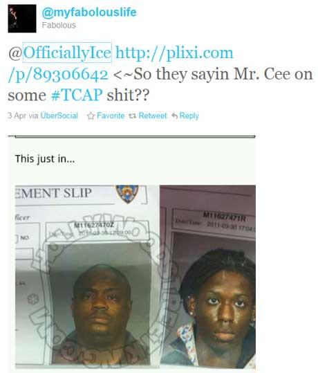 Fabolous Mister Cee Tweet