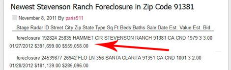 Claudia Jordan Home Foreclosed