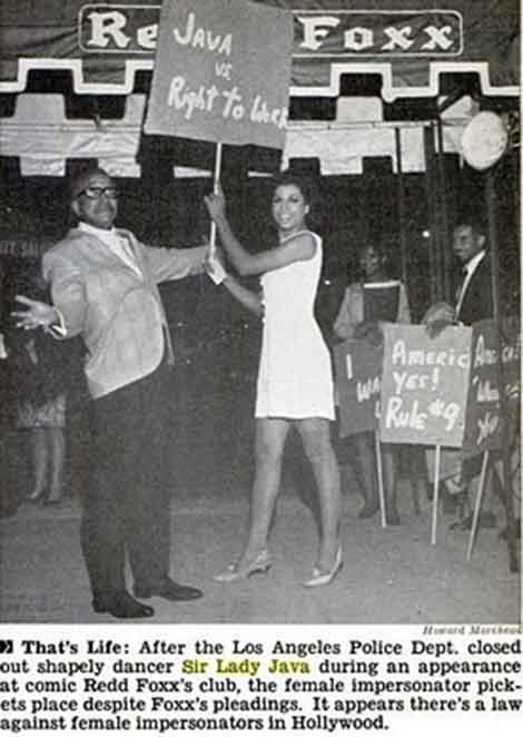Gender Variance Who's Who: Sir Lady Java (1943–) performer ...