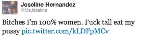 Joseline Hernandez takes to twitter