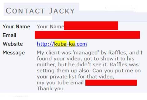 Raffles van Exel Juba Ka Fraud