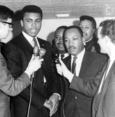 Muhammad Ali w/ Martin Luther King Jr.