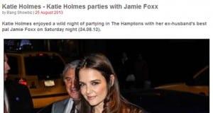 New Hollywood Couple Jamie Foxx & Katie Holmes