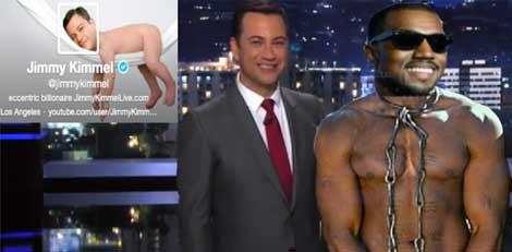 Kanye West is Jimmy Kimmels New Slave