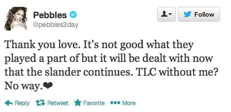 Pebbles Reid vs. TLC