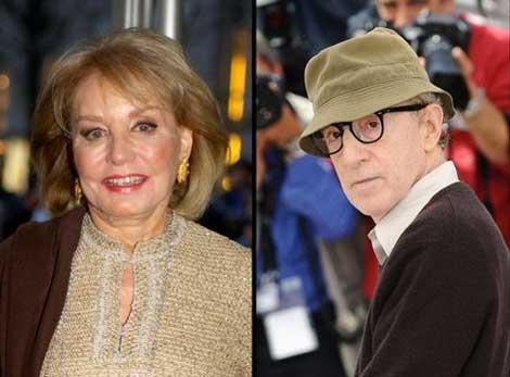 Barbara Walters Rolls w/ Woody Allen