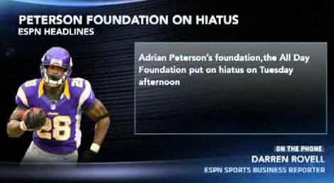Adrian Peterson Charity Fail