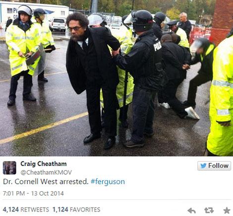 Cornell West Ferguson Arrest