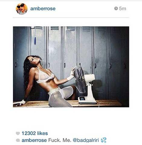 Amber Rose Rihanna Licker License