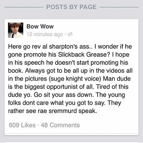 Bow Wow vs Al Sharpton