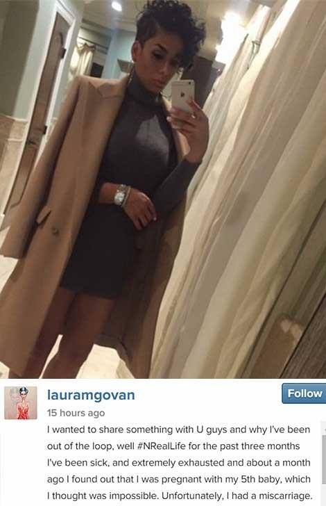 Laura Govan Miscarriage