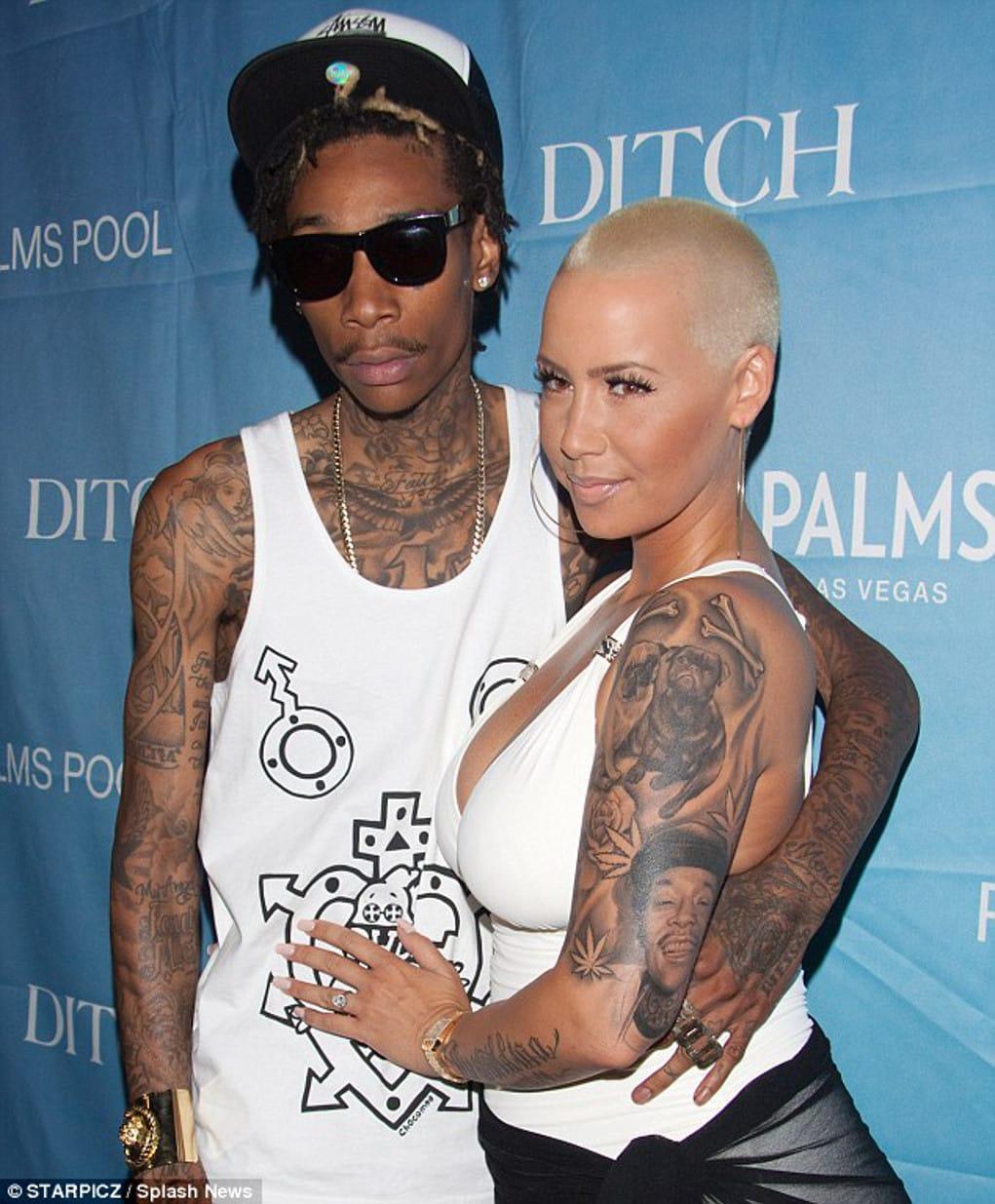 9108ebf461e5d All Wiz Khalifa Tattoos Meanings - Amber Rose, Face & etc.