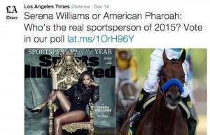 serena williams la times horse