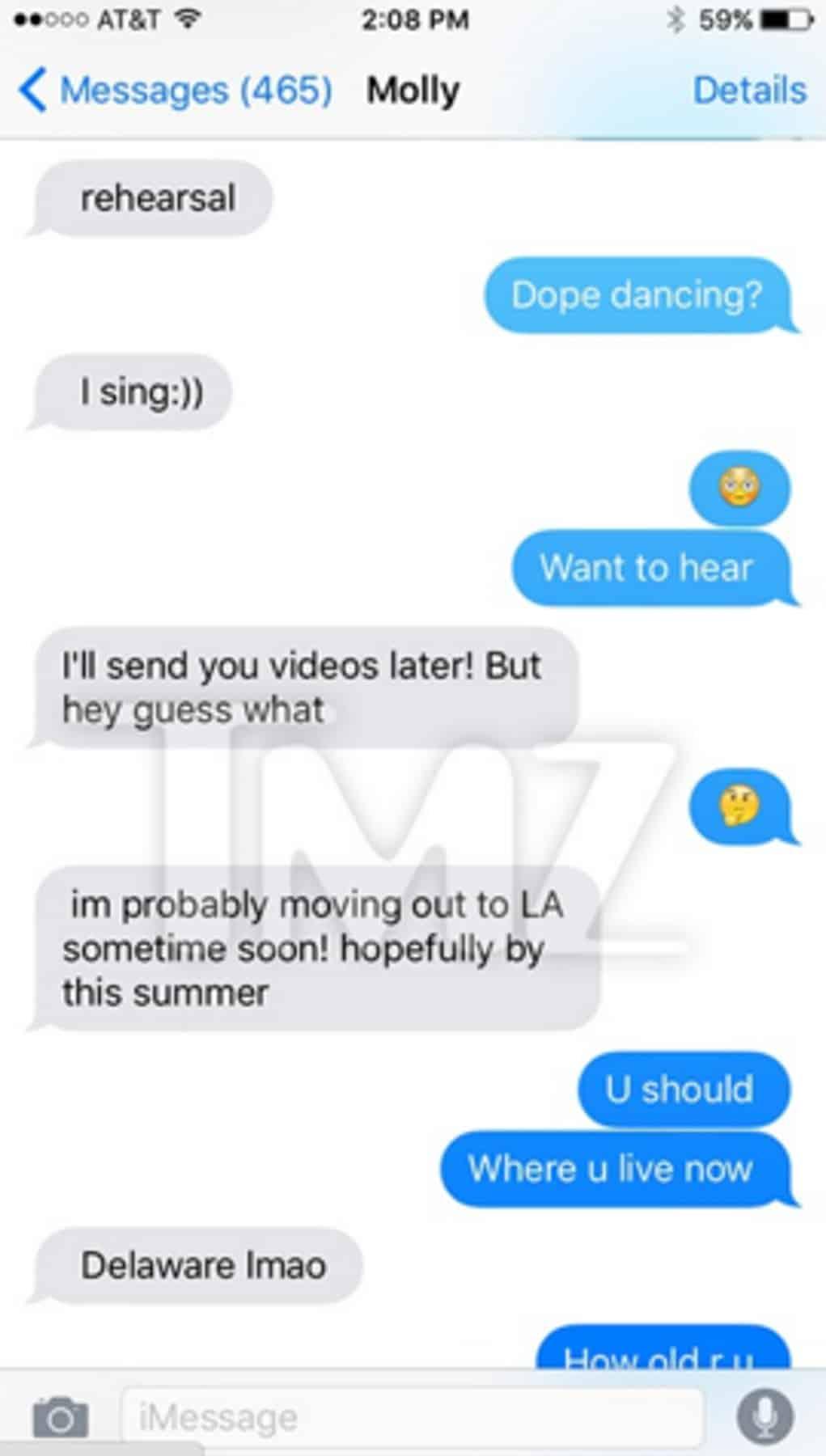 tyga texts molly o malia 2