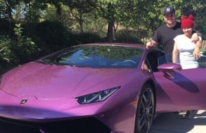 blac chyna rob kardashian Huracan Lamborghini